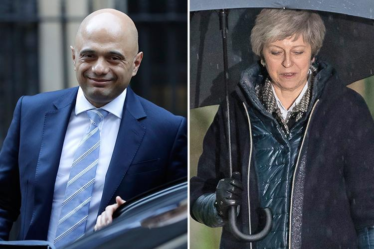 Home Secretary Sajid Javid will 'launch a leadership contest' if Theresa May's Brexit deal collapses and the PM is forced out