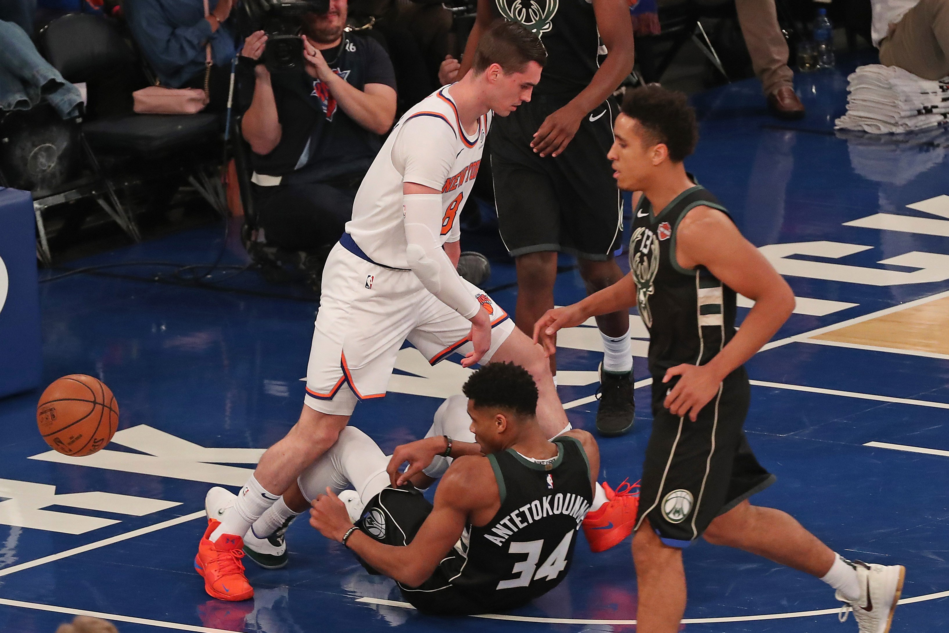Greek Freak threatens Knick after face-off: 'Punch him in his nut'