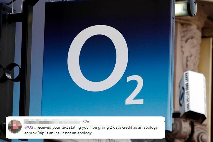 O2 customers receive grovelling apology text after 4G network meltdown – but users slam 'insulting' compensation