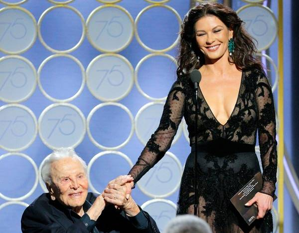Catherine Zeta-Jones Posts Tribute to Kirk Douglas on 102nd Birthday