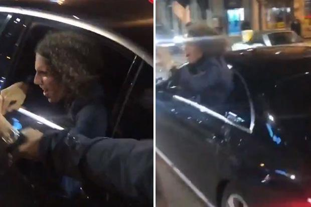 Matteo Guendouzi leans out car window to toast derby win with Arsenal fans