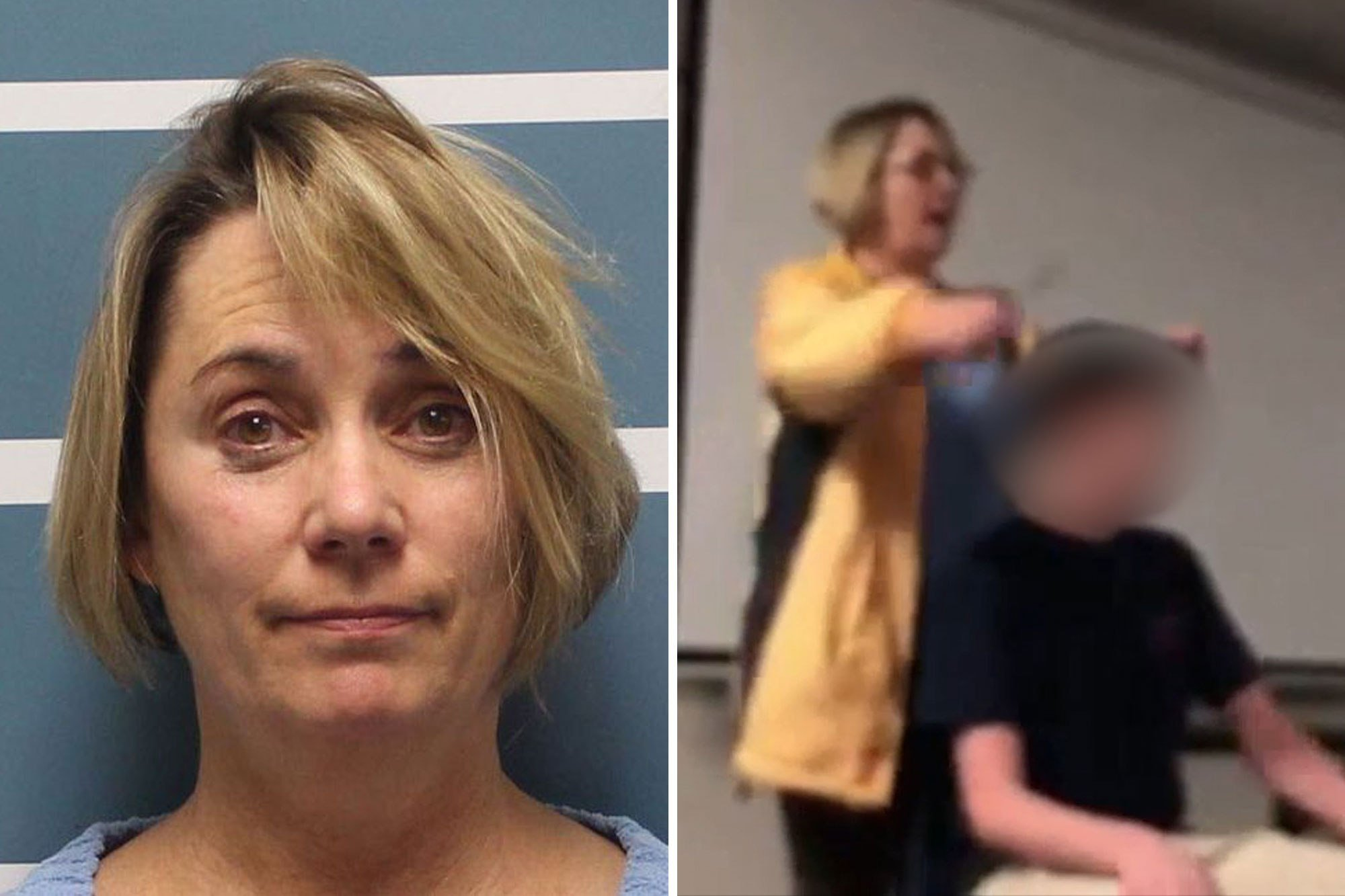 Crazed teacher cuts student's hair while screaming the national anthem