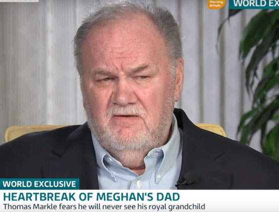 "Thomas Markle Hit The Fame Whore Stroll To Say His Daughter ""Ghosted"" Him"