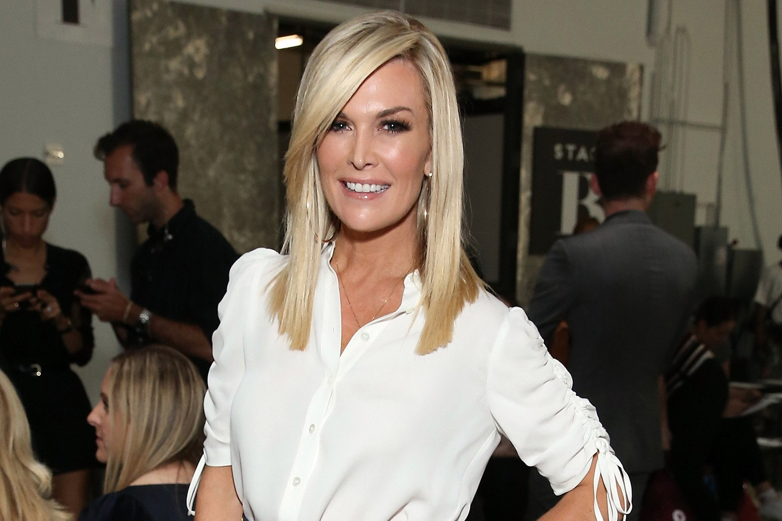 Tinsley Mortimer styles shoppers at Alice + Olivia sale