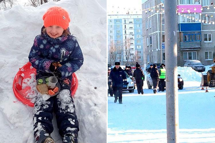 Girl, 7, run over and killed by snowplough that reversed towards the bottom of a slide