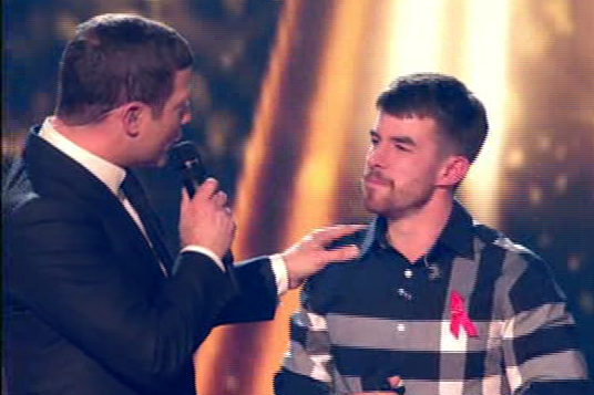 The X Factor's Dermot O'Leary 'makes a dig at Anthony Russell' after Robbie Williams gives him a harsh warning