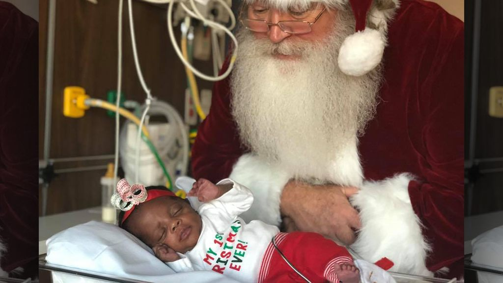 NICU babies dressed for Christmas at New Jersey hospital