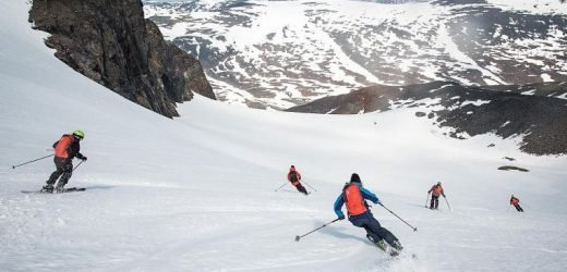 Skiing in the land of the midnight sun