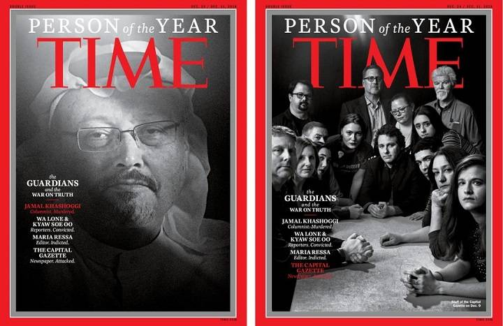 Time awards 'Person of the Year' to journalists including Jamal Khashoggi