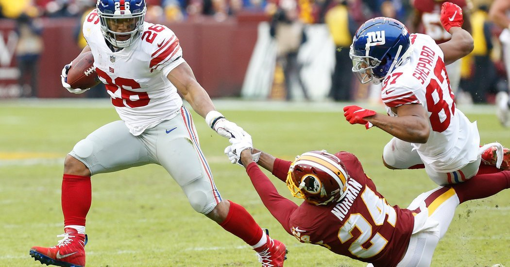 Giants Rout Redskins as Saquon Barkley Rolls to 1,000 Yards