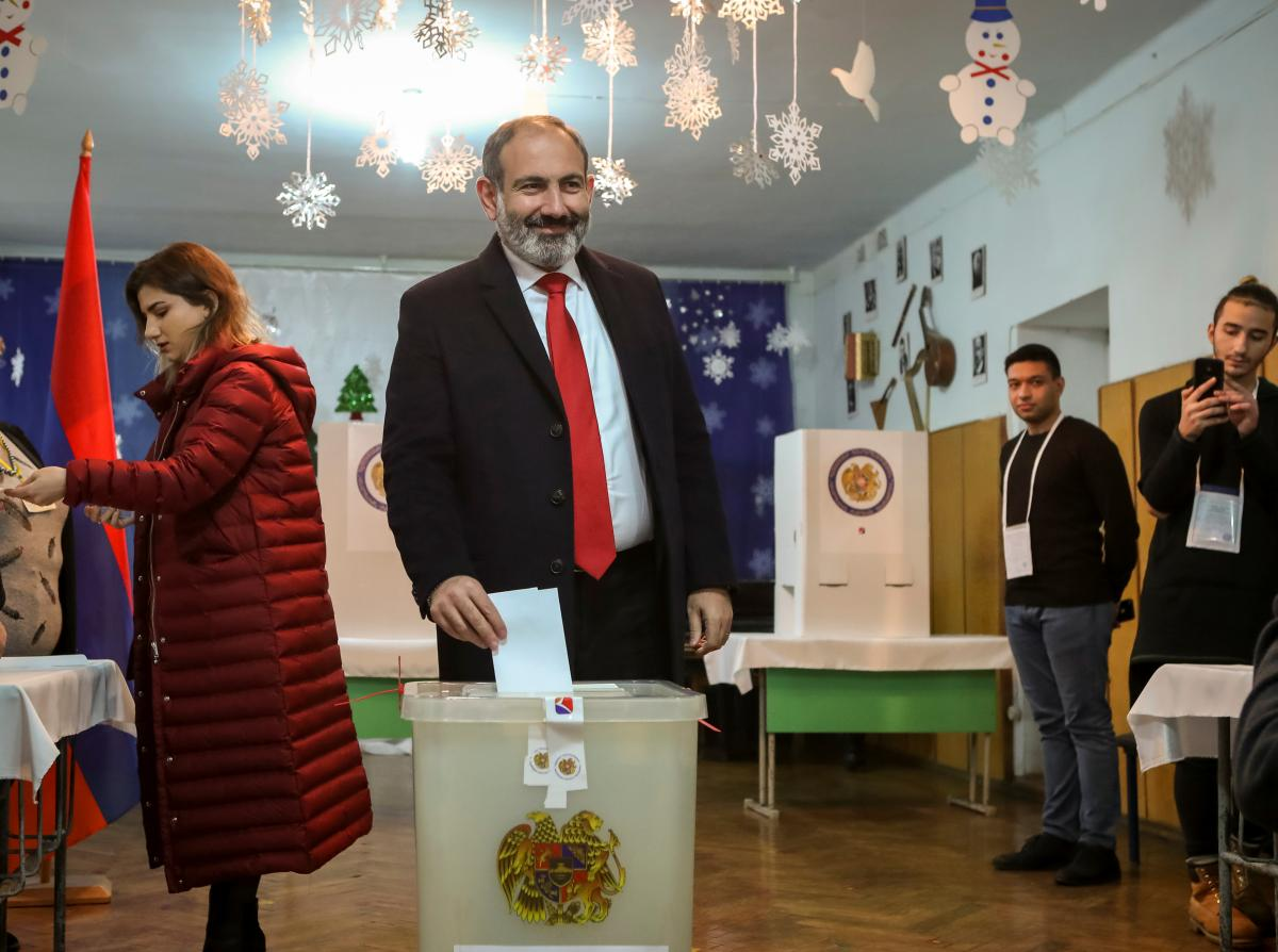 Armenian acting PM's bloc leads parliamentary vote: election commission