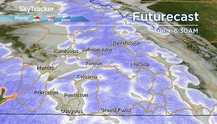 Okanagan weather: More snow on the way