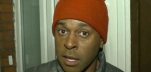 Andi Peters forced to wait for 'naked' prize winner to dress in awkward moment