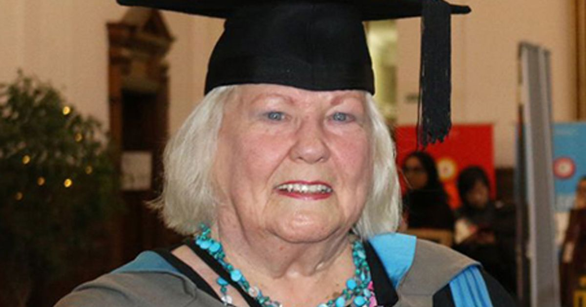 Gran, 82, earned a dream master's degree rather than 'sit around and get ill'