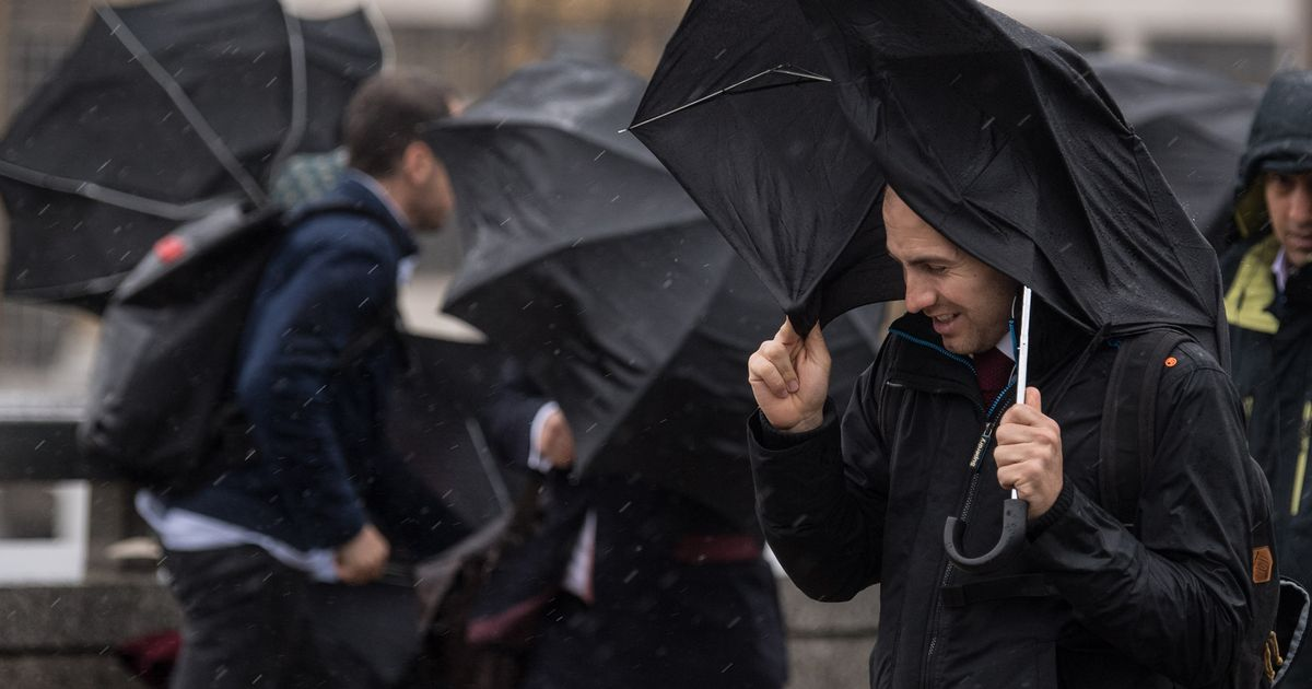 Met Office issues severe weather warning as 75mph gales batter Britain