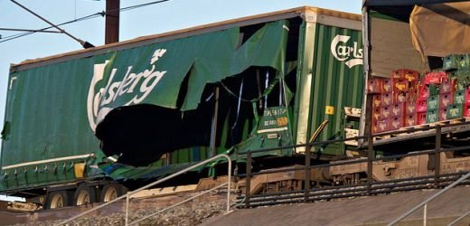 Six people are killed in rail crash during a storm in Denmark