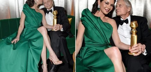 Catherine Zeta-Jones puts on affectionate display with Michael Douglas