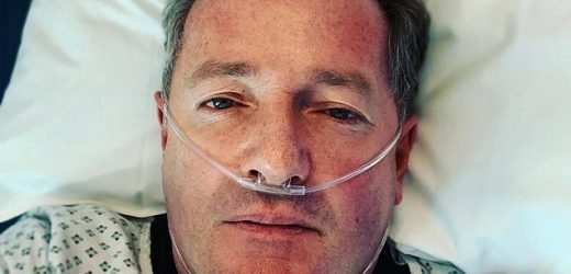 Piers Morgan apologises for not dying in hospital snap