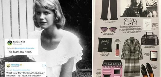 Magazine features a gas oven in a dress like Sylvia Plath spread