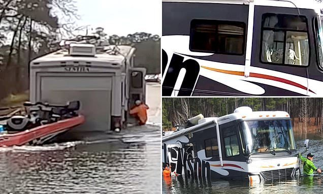Dog accidentally puts his owner's RV in reverse, sends it into a lake
