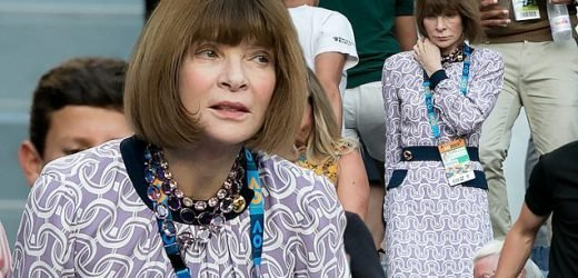 Vogue editor Anna Wintour ditches sunglasses at the Australian Open