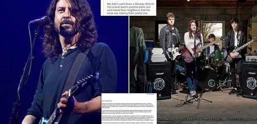 Foo Fighters rocker Dave Grohl 'mocked' by council for old letter