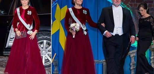 Crown Princess Victoria of Sweden attends an agriculture dinner