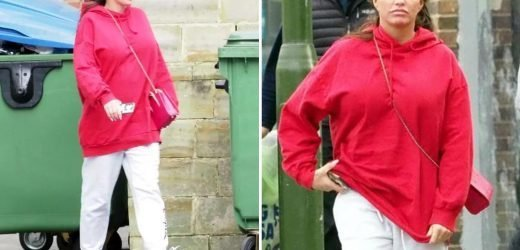 Katie Price wears £625 Gucci trainers as she's spotted for the first time since she was unable to pay court fine