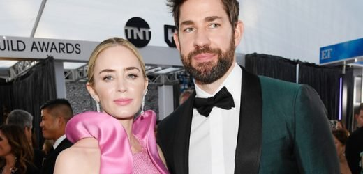 Emily Blunt Turns Attention To John Krasinski During SAG Awards Acceptance Speech