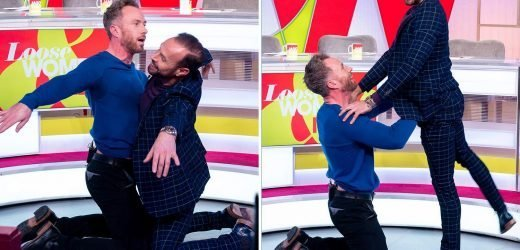 James Jordan and Jason Gardiner dance the Bolero on Loose Women and viewers can't stop laughing