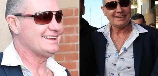 Smiling Paul Gascoigne pleads NOT GUILTY to sexually assaulting woman on a train