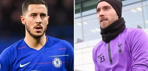 Chelsea and Spurs braced for Real Madrid bids for Hazard and Eriksen