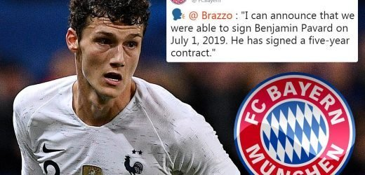 Bayern Munich win race for £31.4m French World Cup star Benjamin Pavard on five-year deal