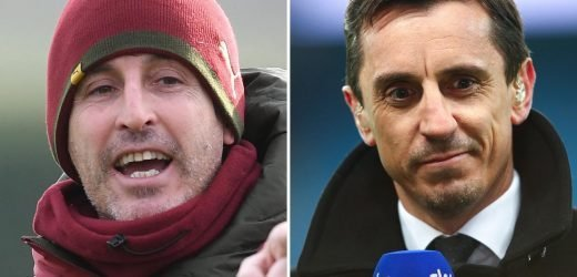 Unai Emery needs 'four or five transfer windows' to sort out Arsenal mess, insists Gary Neville