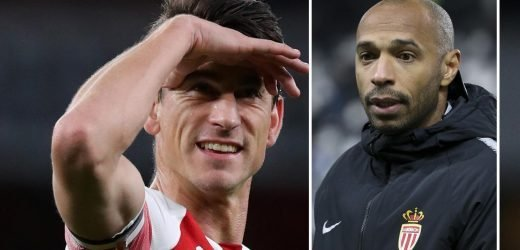Laurent Koscielny rejects Thierry Henry after offer to swap Arsenal for Monaco this month