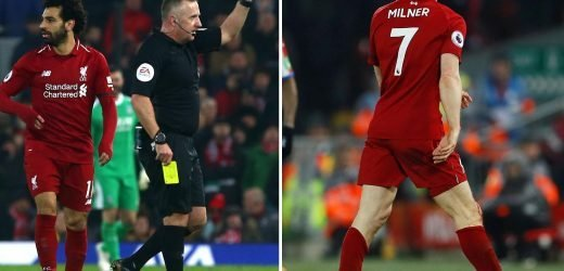 Liverpool star James Milner sent off against Crystal Palace by Jon Moss – who used to be his TEACHER