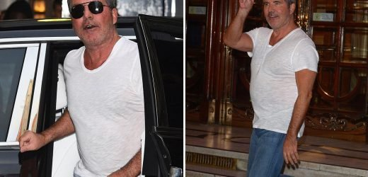 Simon Cowell 'narrowly escapes injury' as BGT knife throwers hurl seven knives and axes at him