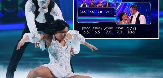 Furious Dancing On Ice fans accuse judges of 'favouritism' as James Jordan gets high score despite stumble