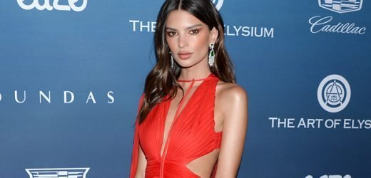 Emily Ratajkowski Slays In A Red Sheer Dress At The Art Of Elysium 'Heaven' Gala — See Pic