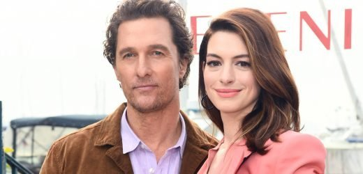 Anne Hathaway & Matthew McConaughey Look Sharp at 'Serenity' Photo Call