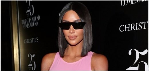 Kim Kardashian Busts Out Of See-Through Dress At John Legend's Birthday Party