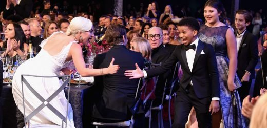 Lady Gaga High-Fived the 'This Is Us' Kids at the SAGs and It Was So Cute