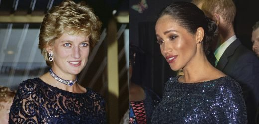 Meghan's Sequin Gown Reminds Us of Princess Diana's Iconic Dresses