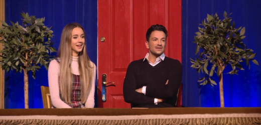 Peter Andre trolled over younger wife Emily after being surprised in bed on Michael McIntyre's Big Show