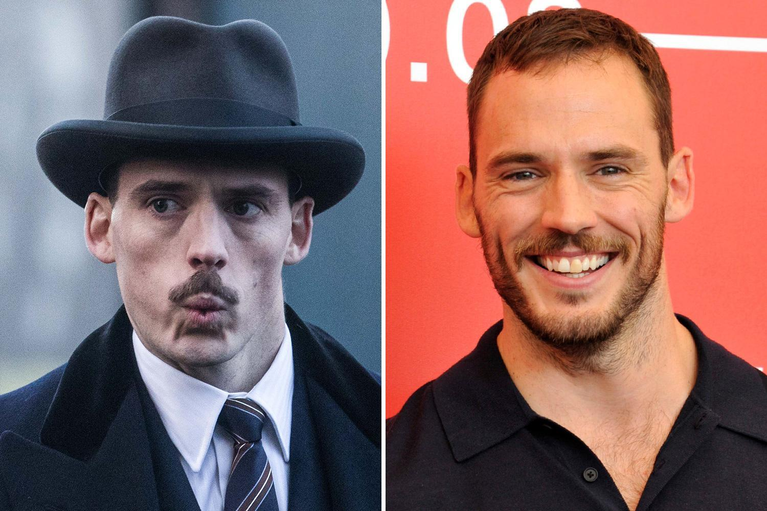 Hunger Games star Sam Claflin seen on set of new Peaky Blinders as Oswald Mosley