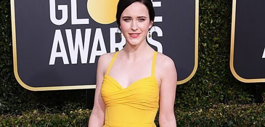Rachel Brosnahan Steals The Show In Vibrant Yellow Gown On 2019 Golden Globes Carpet