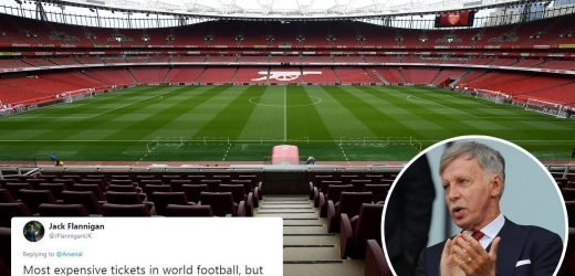 Arsenal freeze ticket prices – but fans fuming at stingy owner Stan Kroenke want them LOWERED