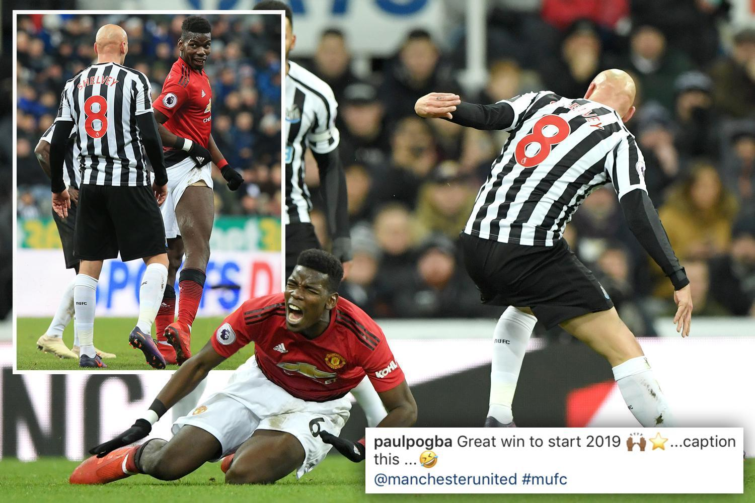 Pogba mocks Shelvey but Newcastle ace to avoid action for horror challenge on Manchester United star
