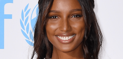 Jasmine Tookes Displays Curves In Hot Pink Plunge Swimsuit On Instagram
