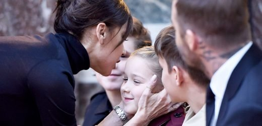 Harper Beckham, 7, Gets a Facial From Celeb Facialist